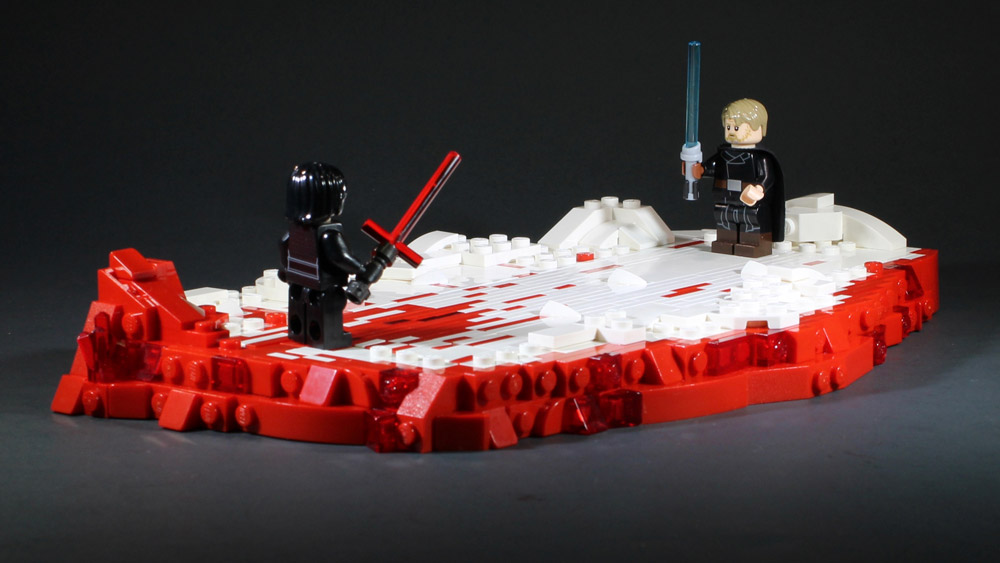 From The Last Jedi, Luke Versus Kylo Ren Lego MOC