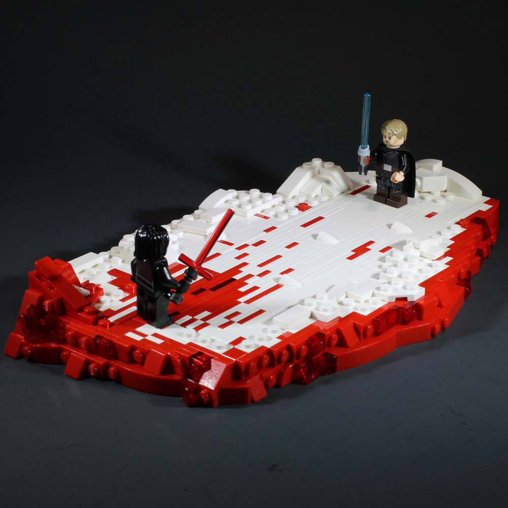 From The Last Jedi, Luke Versus Kylo Ren Lego MOC Crait