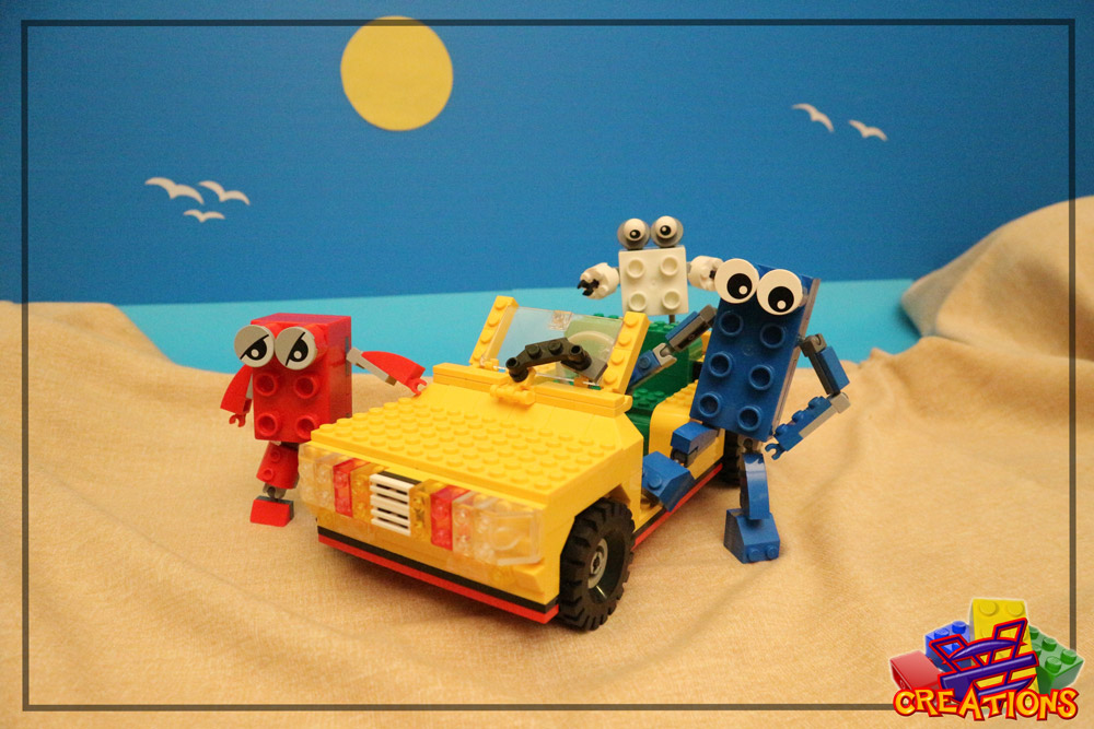 Lego Goes To The Beach, With Mr. Brick And Friends
