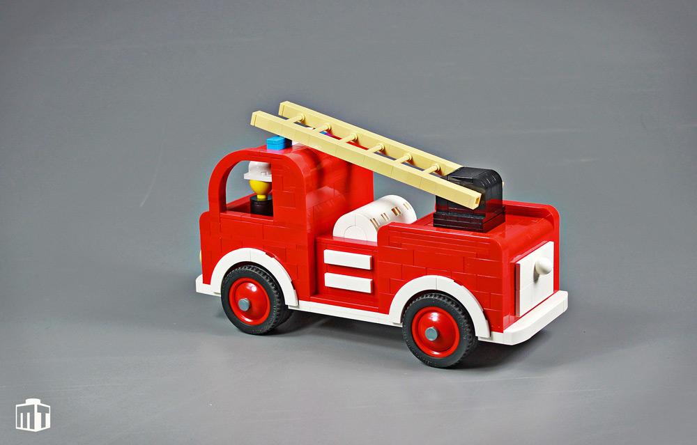 Wooden Fire Truck Lego MOC