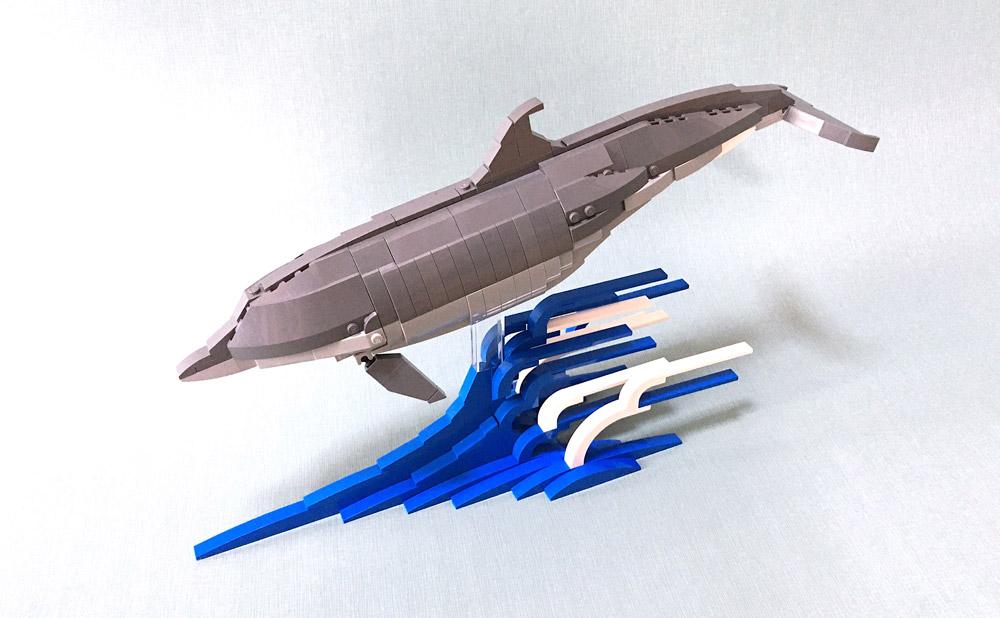 A Lego Bottlenose Dolphin