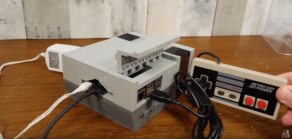 Building The Retro Power, A Lego NES Raspberry Pi with LGR