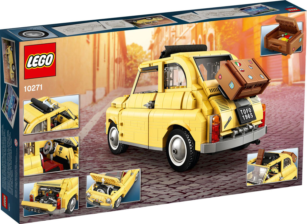 Fiat 500 Lego 10271 Box Back