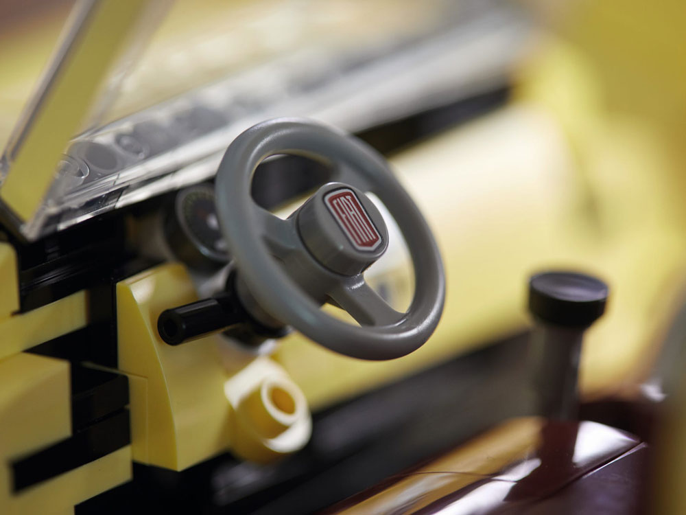 Lego Fiat 500 Interior Steering Wheel
