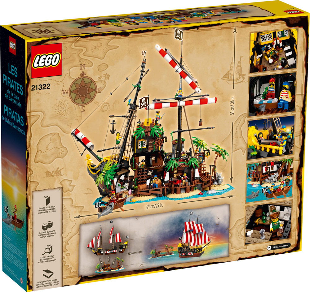 Lego Pirates Of Barracuda Bay (21322) Set Box Back