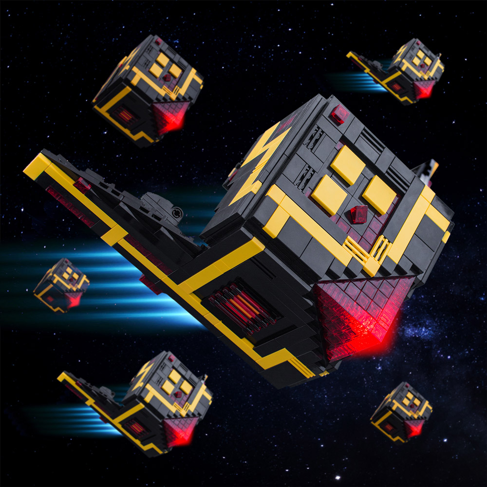 The Lego Cubo Scout Drone Exploring Deep Space
