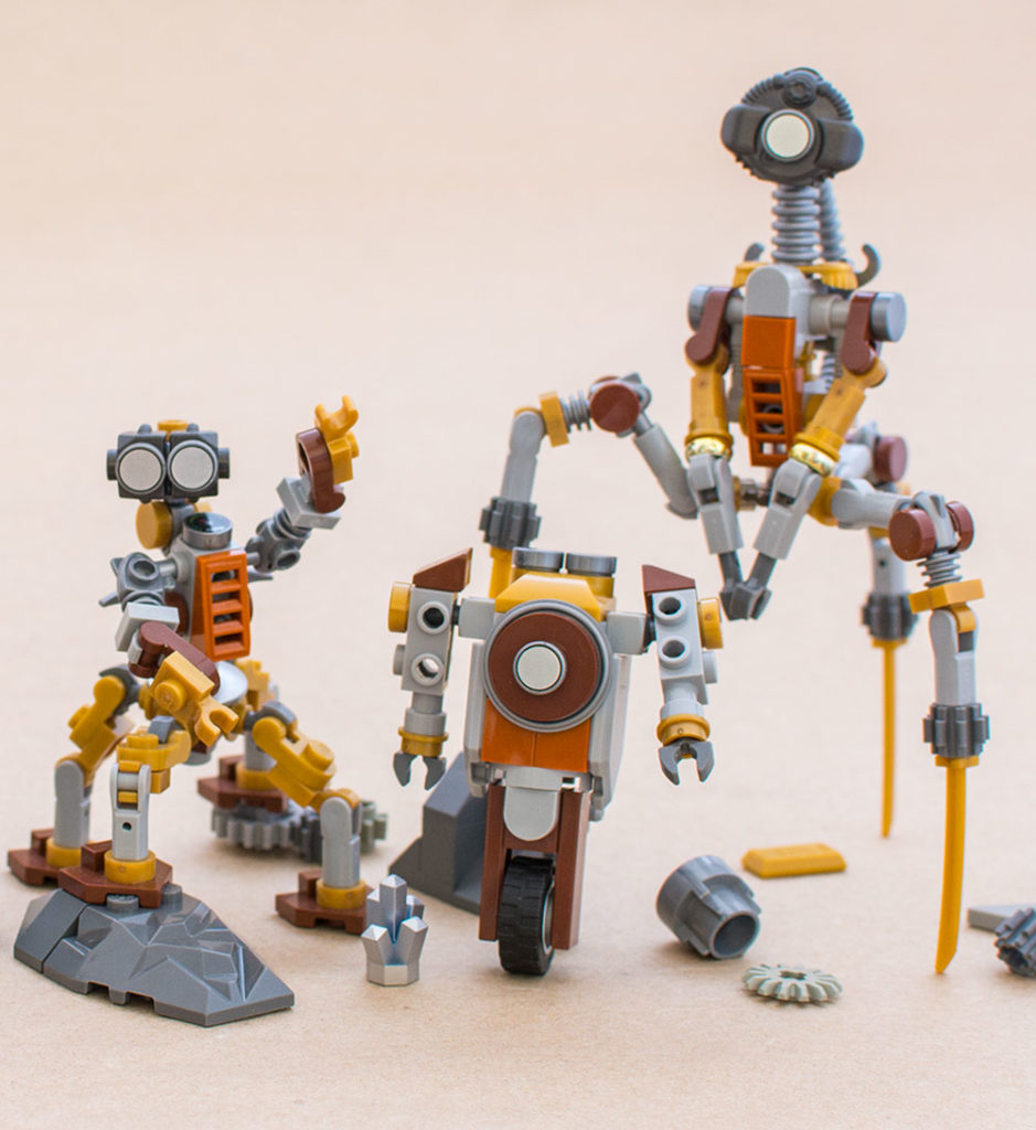 The Table Scrap Lego Robot Family