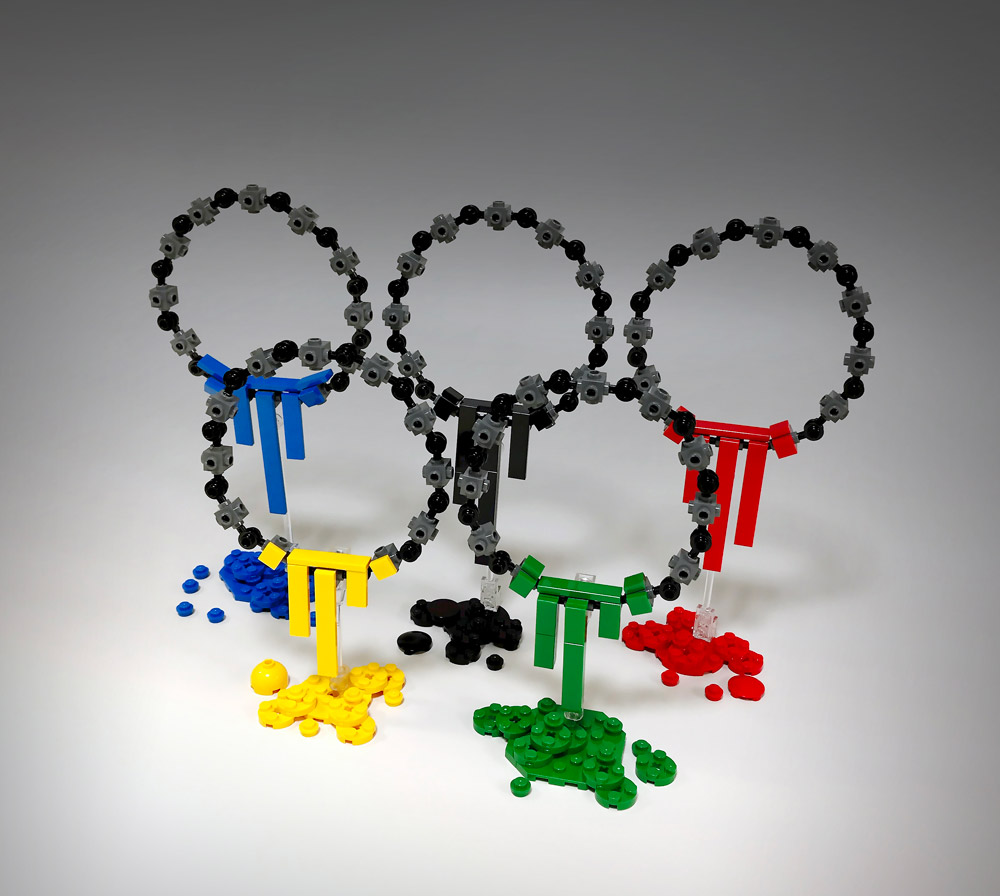 Object 6-C: Five Lego Circles Dripping