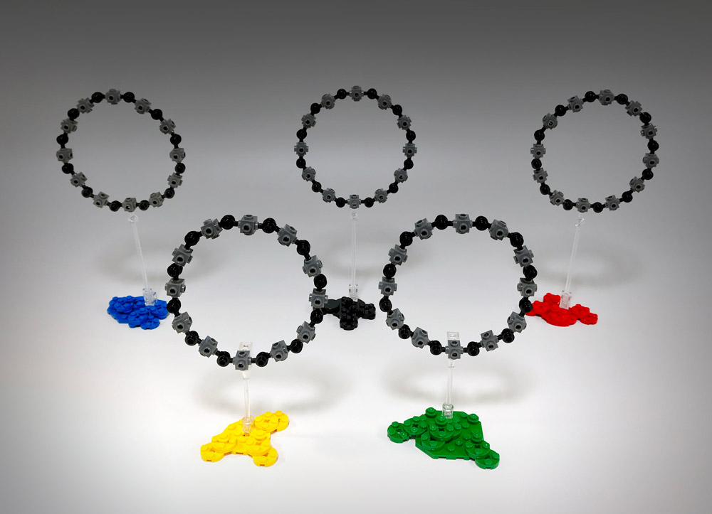 Object 6-C: Five Lego Circles Dripped