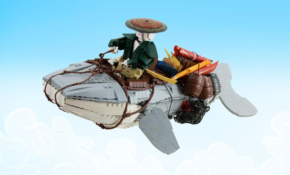 The Balaenoptera Levosia, A Lego Flying Whale
