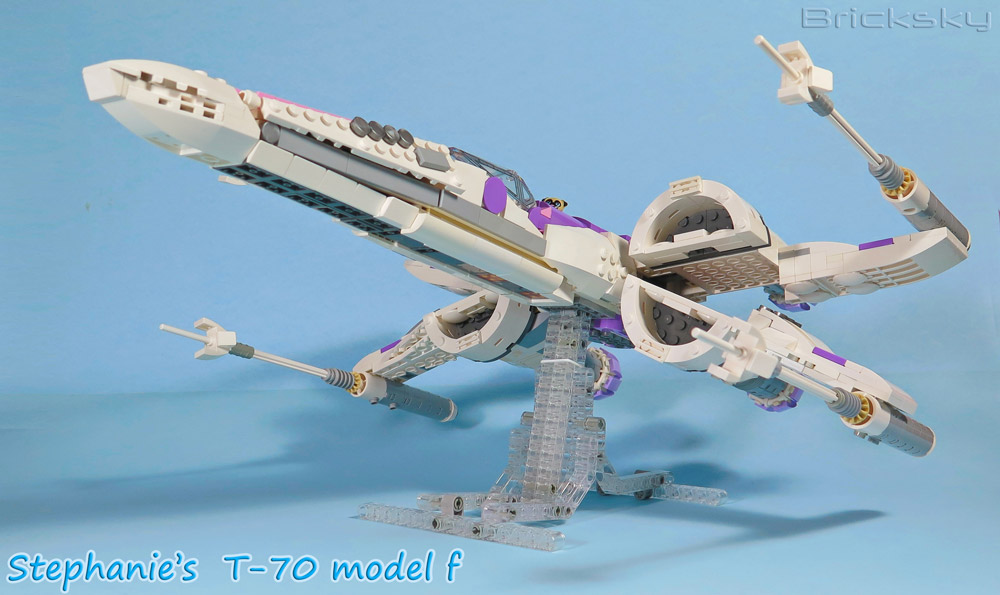 Stephanie Lego Friends T-70 X-Wing Model F