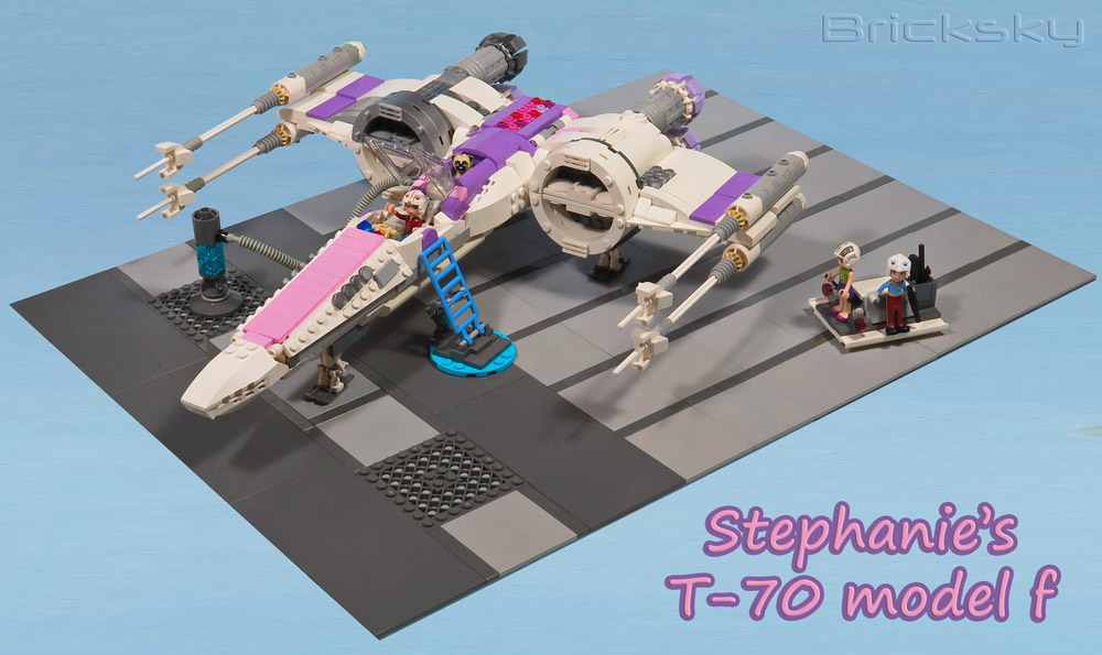 Stephanie Will Stay On Target With Her Lego Friends X-Wing