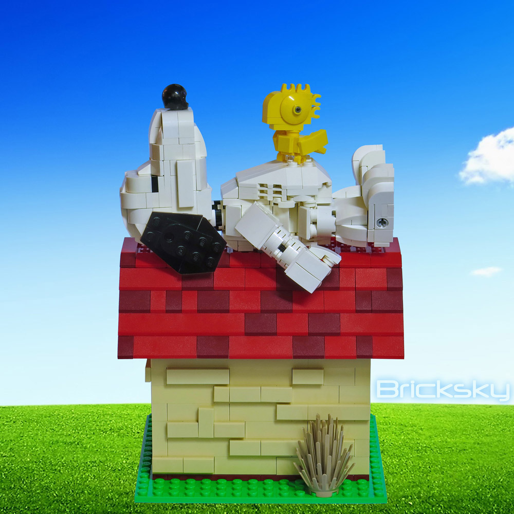 An Afternoon Nap With Lego Snoopy And Woodstock