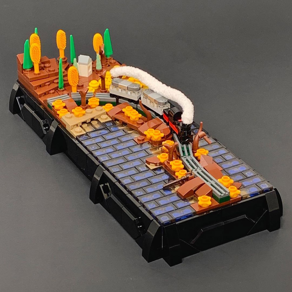 A Lego Microscale Train Ride