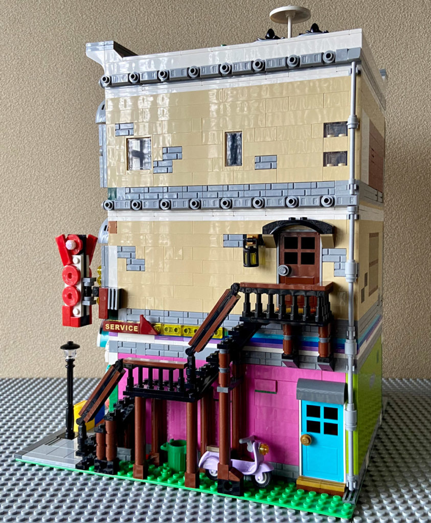 The Corner Toy Store With Pool Hall - A Modular Lego MOC