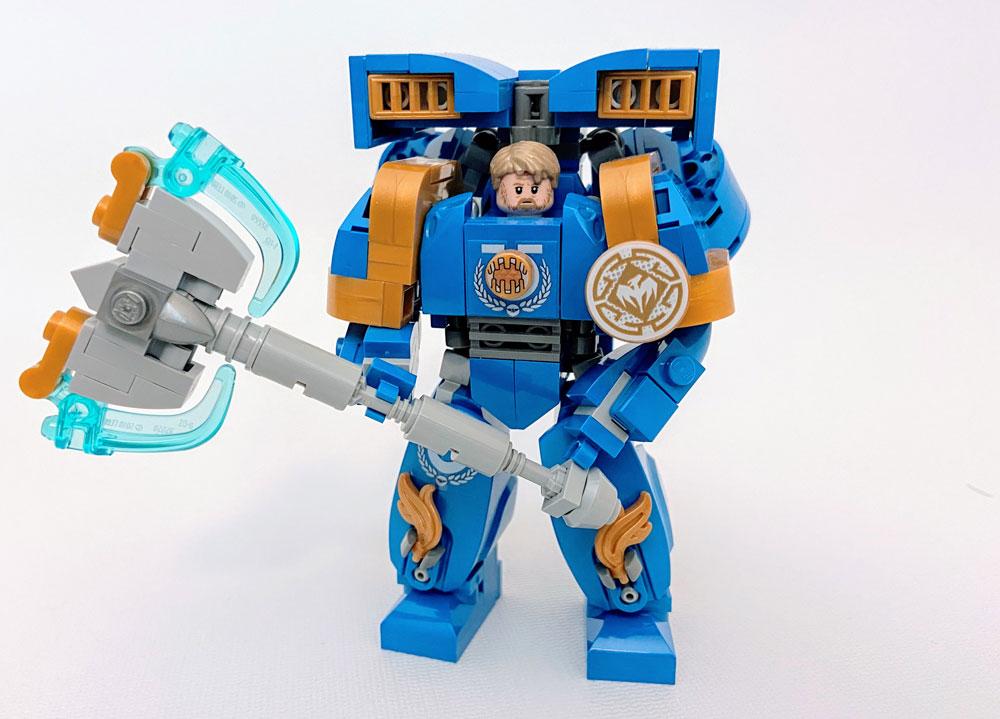 Warhammer 40k Lego Ultramarines Axe