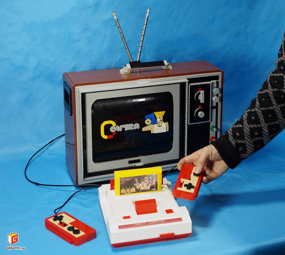 The Lego Famicom, A Nintendo Family Computer, And Retro TV