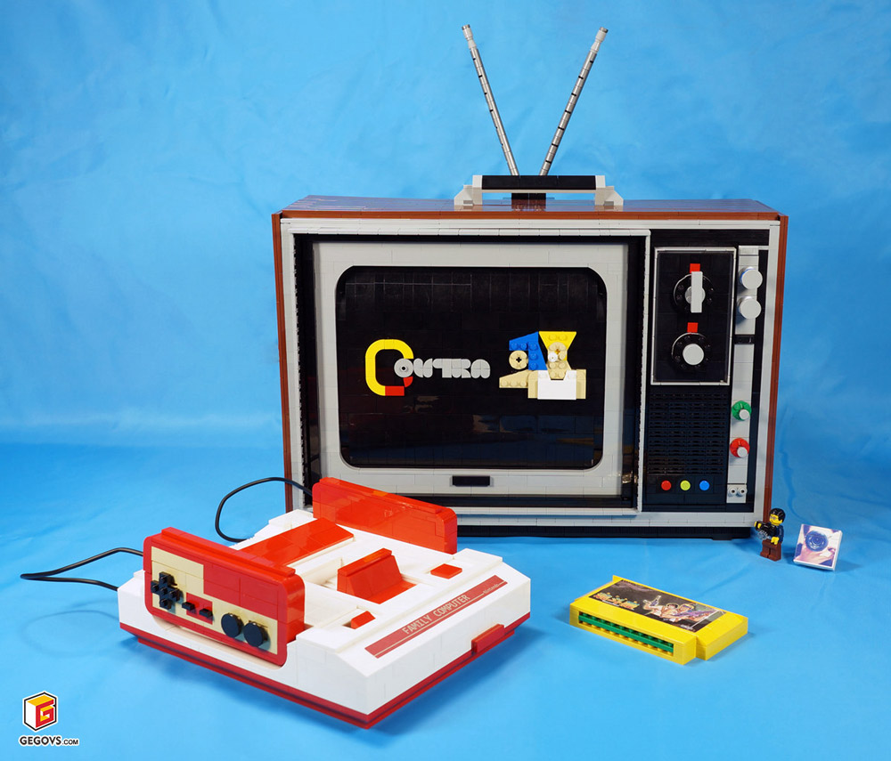 The Lego Famicom, A Nintendo Family Computer with Contra Video Game