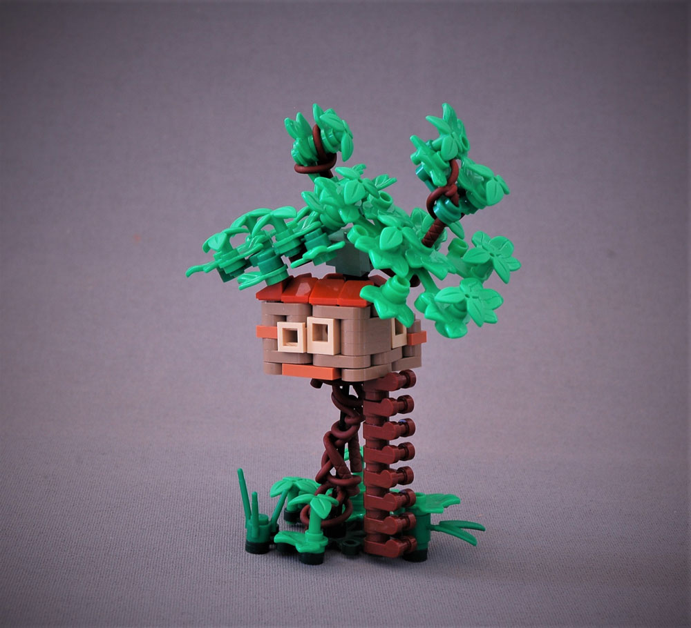 The Teeny Tiny Treehouse, A Microscale Lego MOC