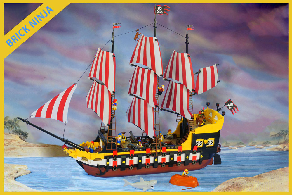 A 28 Gun Black Seas Barracuda - A Lego Pirate Ship