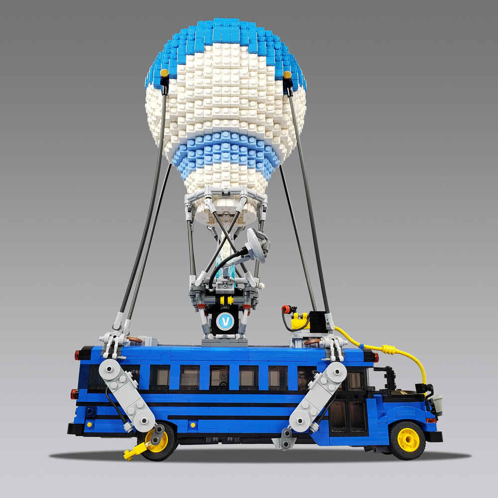 This Lego Fortnite Battle Bus & Instructions