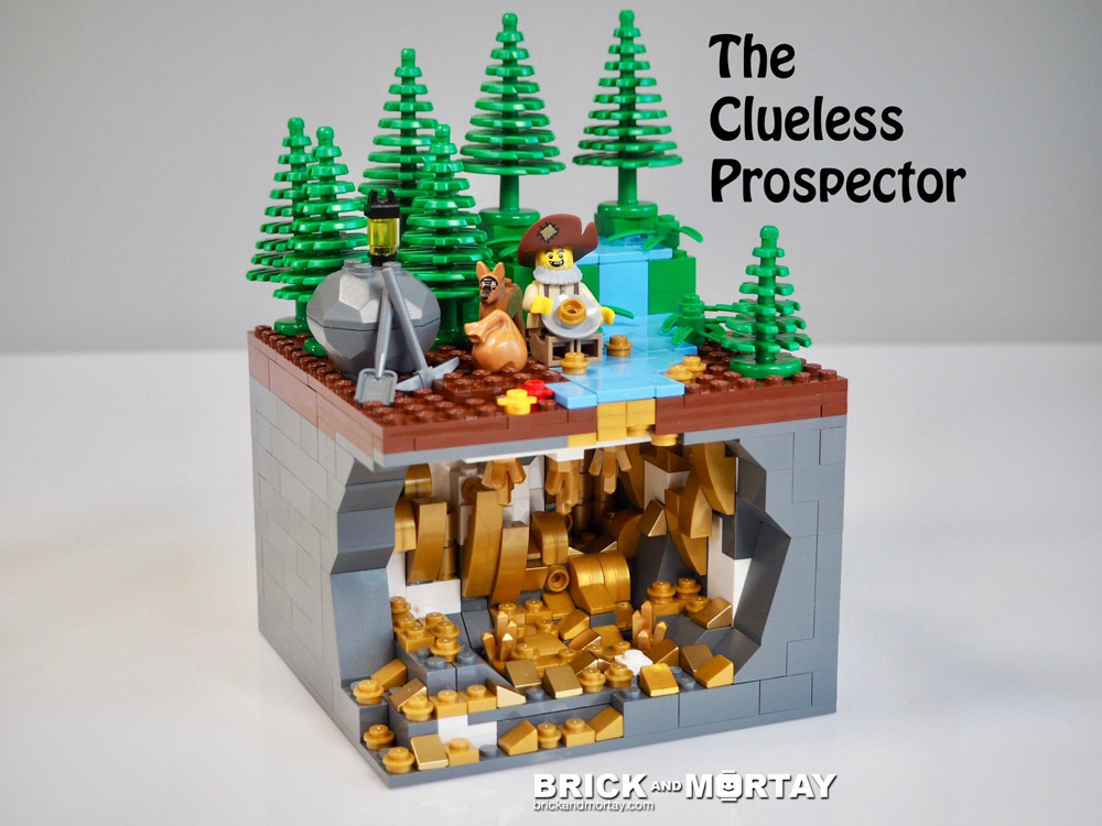 Looking For A Pocket With This Clueless Prospector, Lego MOC
