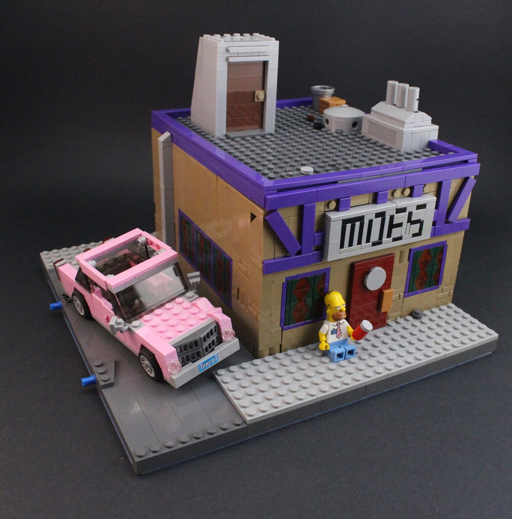 Lego Moe's Tavern, Where The Elite Meet To Drink - The Simpsons