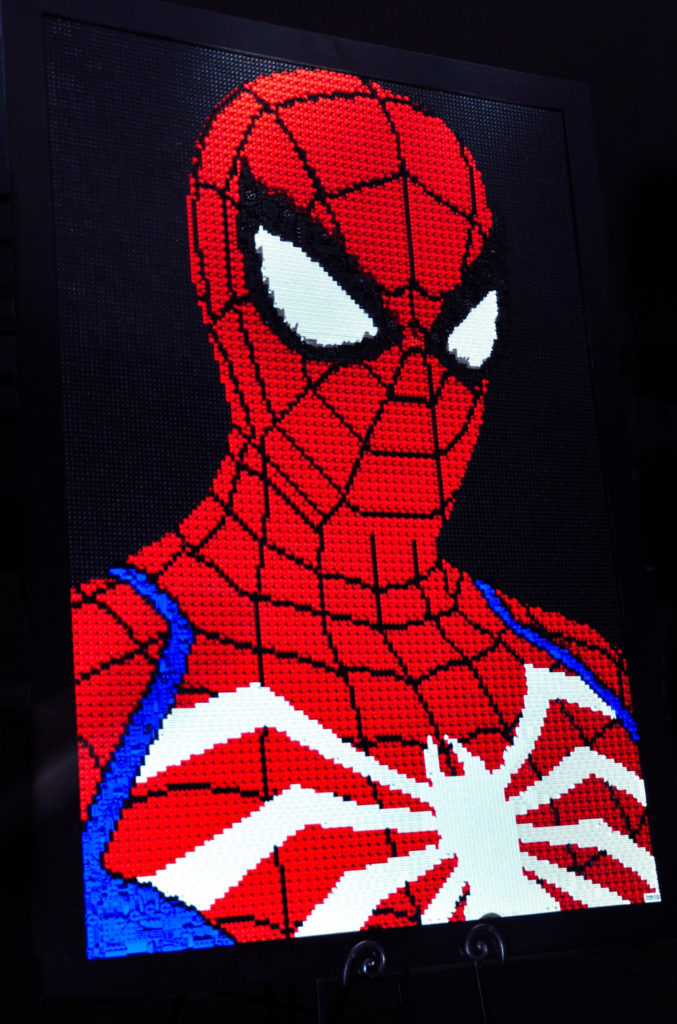 Advanced Suit Spider-Man, A Lego Mosaic