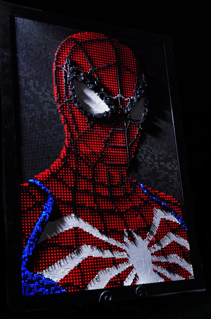 Advanced Suit Spider-Man, A Lego Mosaic, Dark Version
