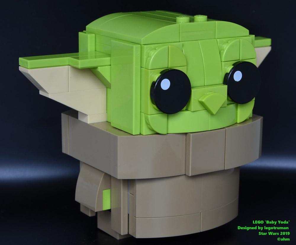 A Super Cute Baby Yoda Made Of Lego
