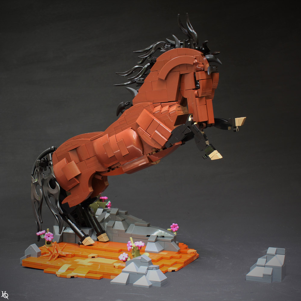 Not A Lot Of Studs On This Stud - A Lego Horse MOC