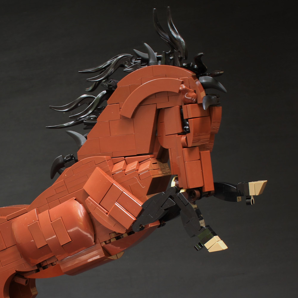 Not A Lot Of Studs On This Stud - A Lego Horse MOC Detail