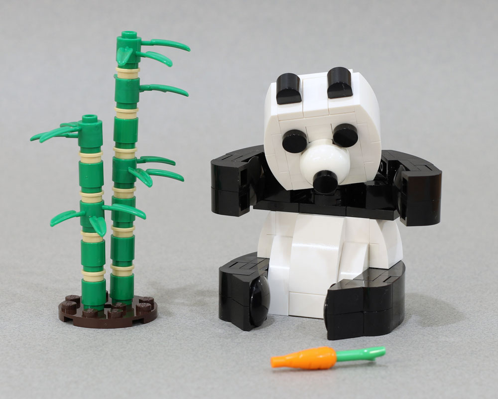 Build Your Own Lego Panda Bear Buddy