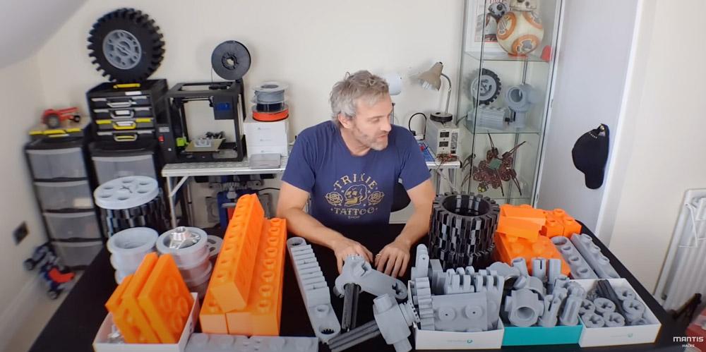 Life-Sized 3D Printed Lego Go-Kart, Mantis Hacks
