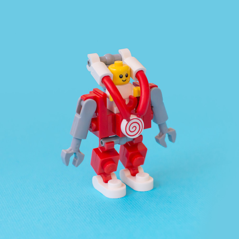 Build This Lego Baby Mecha, With Instructions