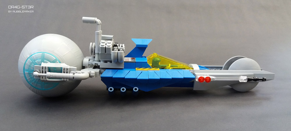 Space Drag Racing With The Lego DR4G-5T3R Dragster