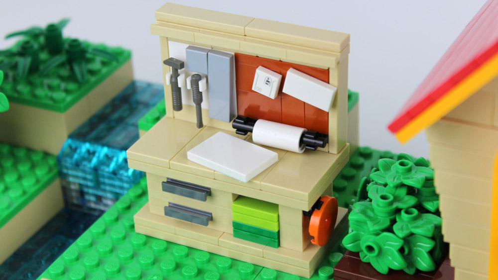 Animal Crossing New Horizons Workbench Lego MOC