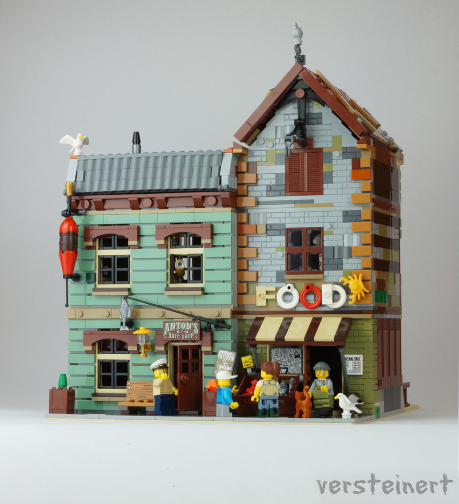 The Modular Bait Shop And Grocery - An Alternate Lego Old Fishing Store