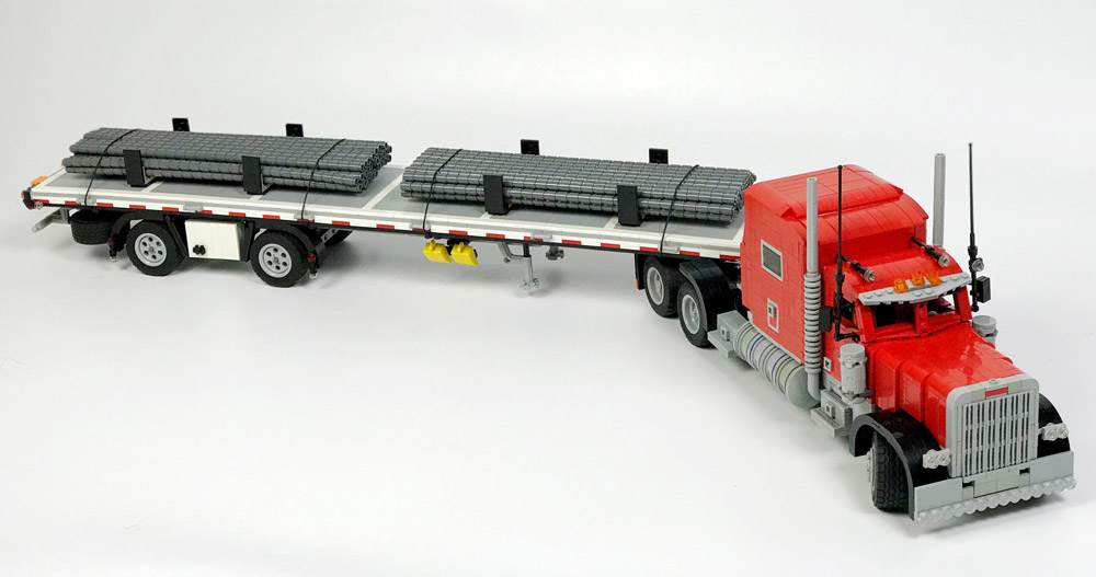 Trucking With A Lego Peterbilt 379, Truck Trailer