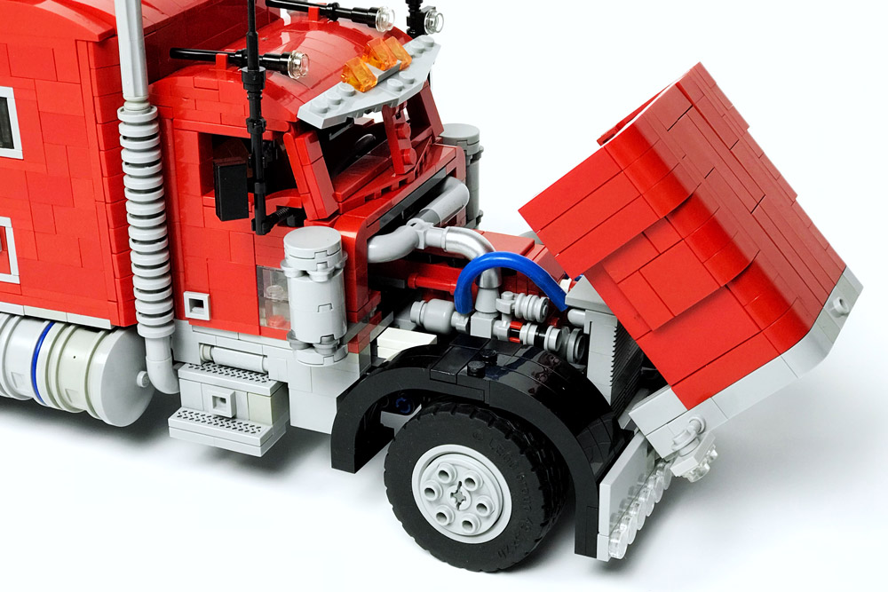 Trucking With A Lego Peterbilt 379 Truck Engine