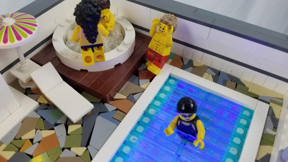 The Grand Billund - Pool Lego MOC