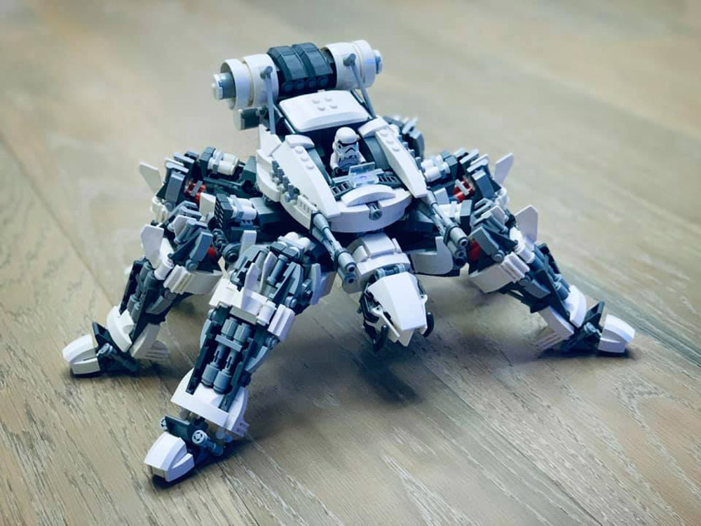 A Lego Bio-Storm Mechanical Spider Stormtrooper
