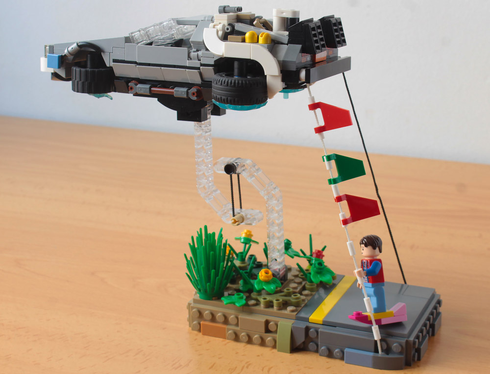 Great Scott! A Lego Back To The Future Tensegrity Build