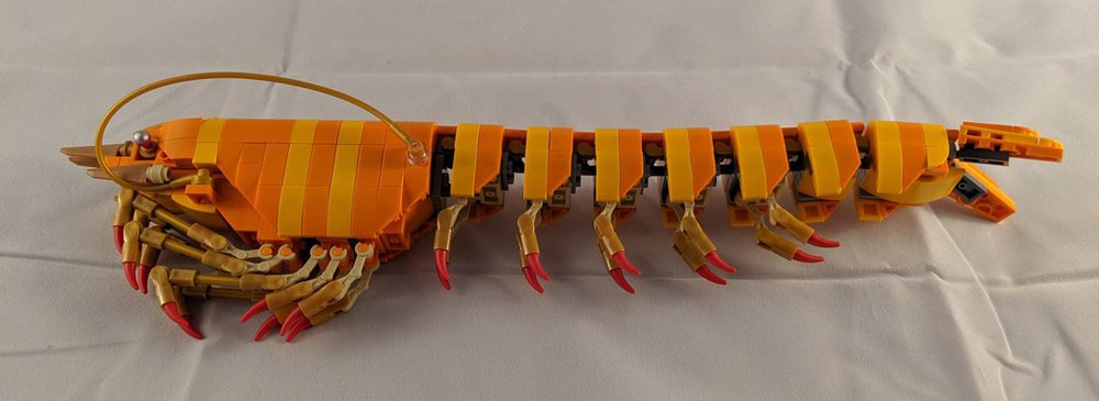 A Prawn Made Out Of Lego