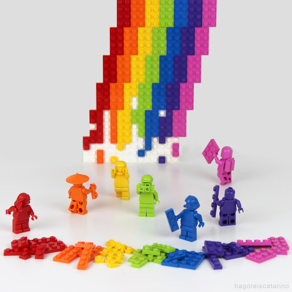 Lets Build Lego Rainbows Together