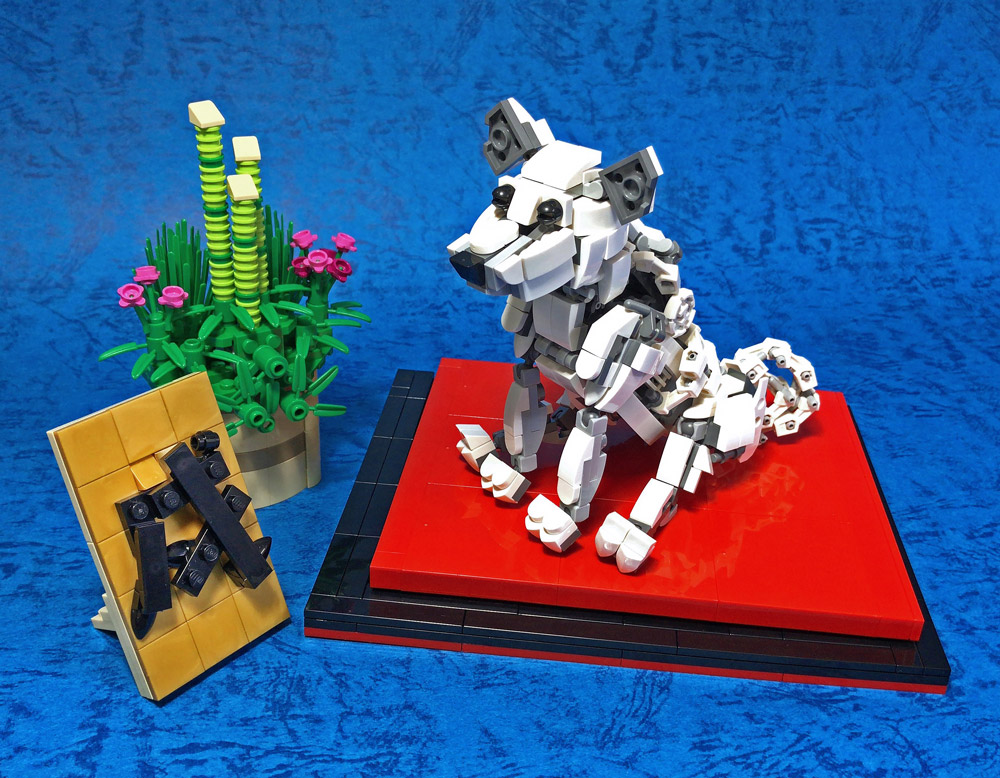 This Brick Built Lego Dog Is A Good Boy