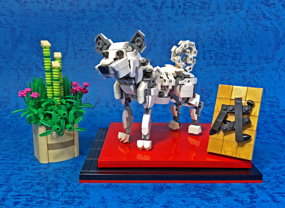 This Brick Built Lego Dog Is A Good Boy Version 2