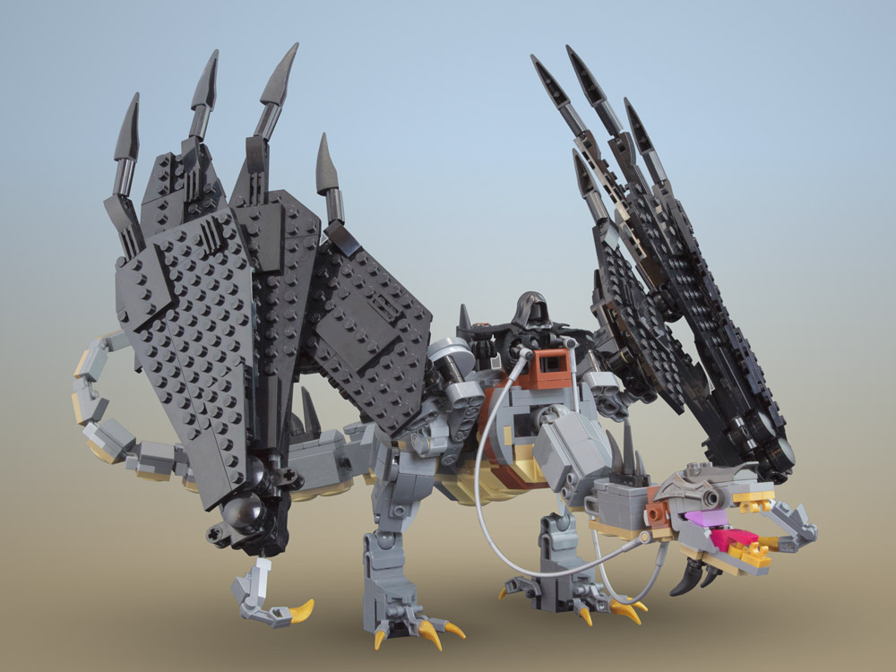 A Lego Fell Beast Is Hunting Hobbits, The Lord of the Rings, Nazgul