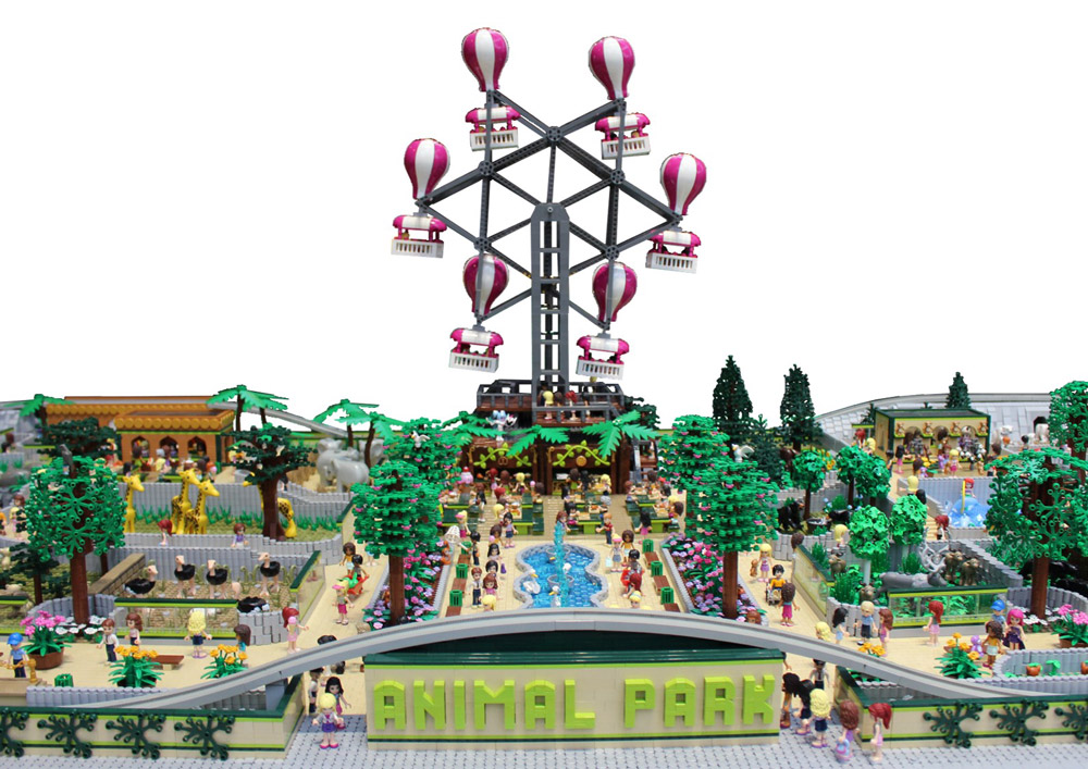 The Lego Friends Visit Animal Park! Lego Zoo MOC