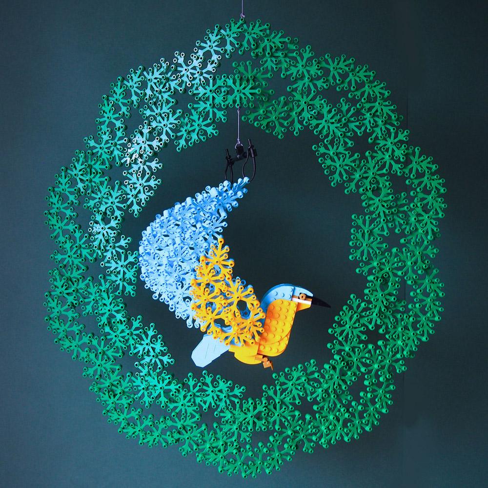 Lego Bird With A Wreath